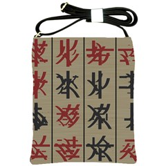 Ancient Chinese Secrets Characters Shoulder Sling Bags
