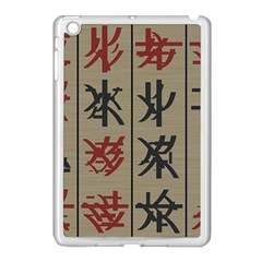 Ancient Chinese Secrets Characters Apple Ipad Mini Case (white)