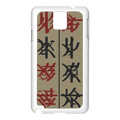 Ancient Chinese Secrets Characters Samsung Galaxy Note 3 N9005 Case (white)