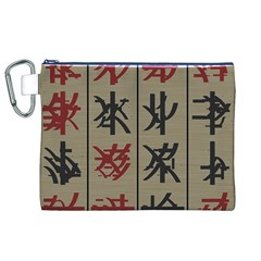 Ancient Chinese Secrets Characters Canvas Cosmetic Bag (xl)