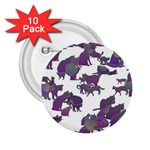 Many Cats Silhouettes Texture 2.25  Buttons (10 pack)  Front