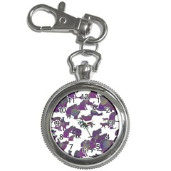 Many Cats Silhouettes Texture Key Chain Watches