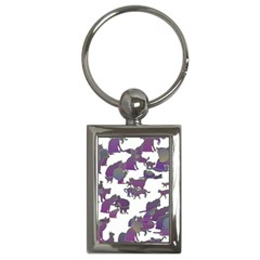 Many Cats Silhouettes Texture Key Chains (Rectangle)