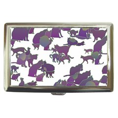 Many Cats Silhouettes Texture Cigarette Money Cases