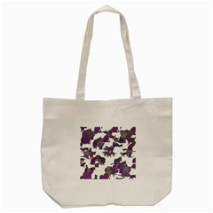 Many Cats Silhouettes Texture Tote Bag (cream)