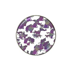 Many Cats Silhouettes Texture Hat Clip Ball Marker (4 Pack)