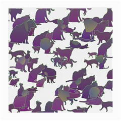 Many Cats Silhouettes Texture Medium Glasses Cloth (2 Side)