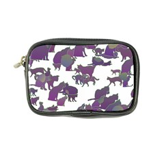 Many Cats Silhouettes Texture Coin Purse