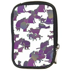 Many Cats Silhouettes Texture Compact Camera Cases