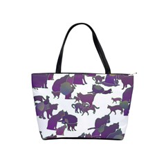 Many Cats Silhouettes Texture Shoulder Handbags