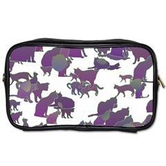 Many Cats Silhouettes Texture Toiletries Bags 2 Side