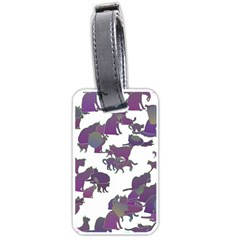 Many Cats Silhouettes Texture Luggage Tags (one Side)