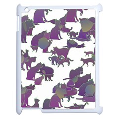 Many Cats Silhouettes Texture Apple Ipad 2 Case (white)