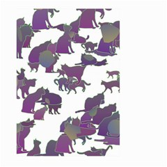 Many Cats Silhouettes Texture Large Garden Flag (Two Sides)