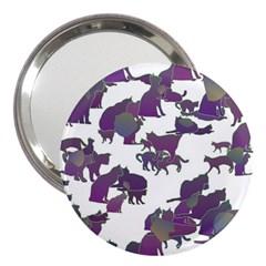 Many Cats Silhouettes Texture 3  Handbag Mirrors