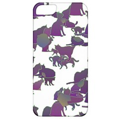 Many Cats Silhouettes Texture Apple Iphone 5 Classic Hardshell Case
