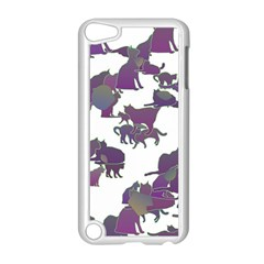 Many Cats Silhouettes Texture Apple Ipod Touch 5 Case (white)