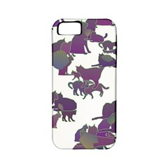 Many Cats Silhouettes Texture Apple Iphone 5 Classic Hardshell Case (pc+silicone)