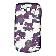 Many Cats Silhouettes Texture Samsung Galaxy S III Classic Hardshell Case (PC+Silicone)