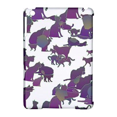 Many Cats Silhouettes Texture Apple Ipad Mini Hardshell Case (compatible With Smart Cover)