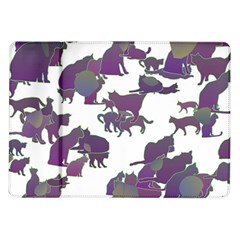 Many Cats Silhouettes Texture Samsung Galaxy Tab 10 1  P7500 Flip Case
