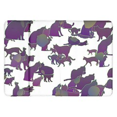 Many Cats Silhouettes Texture Samsung Galaxy Tab 8 9  P7300 Flip Case