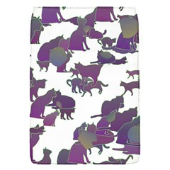 Many Cats Silhouettes Texture Flap Covers (s)