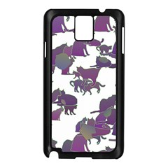 Many Cats Silhouettes Texture Samsung Galaxy Note 3 N9005 Case (black)