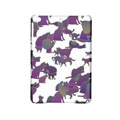 Many Cats Silhouettes Texture Ipad Mini 2 Hardshell Cases