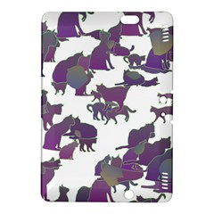Many Cats Silhouettes Texture Kindle Fire Hdx 8 9  Hardshell Case