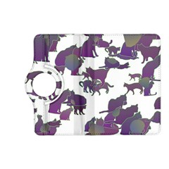 Many Cats Silhouettes Texture Kindle Fire Hd (2013) Flip 360 Case
