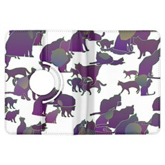 Many Cats Silhouettes Texture Kindle Fire Hdx Flip 360 Case