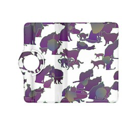 Many Cats Silhouettes Texture Kindle Fire Hdx 8 9  Flip 360 Case