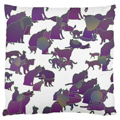 Many Cats Silhouettes Texture Standard Flano Cushion Case (two Sides)