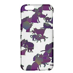 Many Cats Silhouettes Texture Apple Iphone 6 Plus/6s Plus Hardshell Case