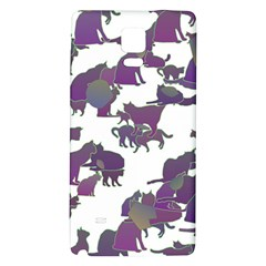 Many Cats Silhouettes Texture Galaxy Note 4 Back Case