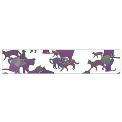 Many Cats Silhouettes Texture Flano Scarf (small)