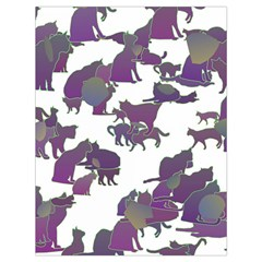 Many Cats Silhouettes Texture Drawstring Bag (large)