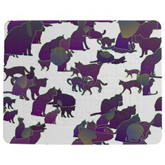 Many Cats Silhouettes Texture Jigsaw Puzzle Photo Stand (Rectangular)