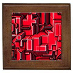 Background With Red Texture Blocks Framed Tiles