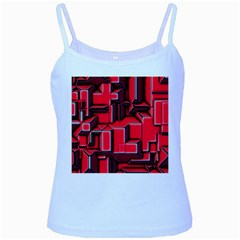 Background With Red Texture Blocks Baby Blue Spaghetti Tank