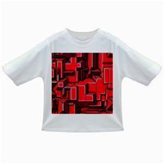Background With Red Texture Blocks Infant/toddler T Shirts