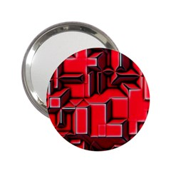 Background With Red Texture Blocks 2 25  Handbag Mirrors