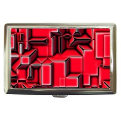 Background With Red Texture Blocks Cigarette Money Cases