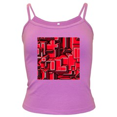 Background With Red Texture Blocks Dark Spaghetti Tank