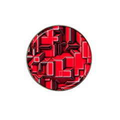 Background With Red Texture Blocks Hat Clip Ball Marker (10 pack)