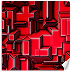 Background With Red Texture Blocks Canvas 20  X 20