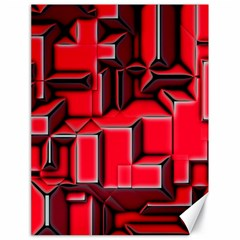 Background With Red Texture Blocks Canvas 18  x 24