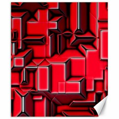 Background With Red Texture Blocks Canvas 20  x 24