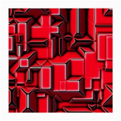 Background With Red Texture Blocks Medium Glasses Cloth (2 Side)